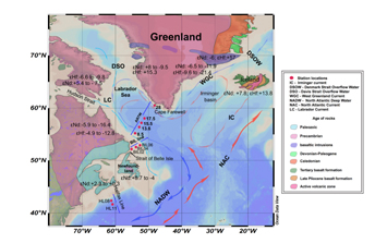 Water mass circulation and weathering inputs in the Labrador Sea based on coupled hafnium-neodymium isotope compositions and rare earth element distributions